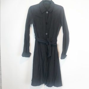 Theory Trench Coat High Tech Fabric Belted